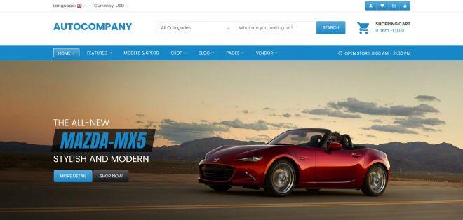 BrandCurb Auto Company Web Design