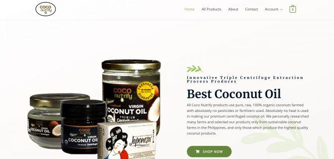 Coco Nutrify Web Design