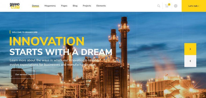 BrandCurb Construction Web Design